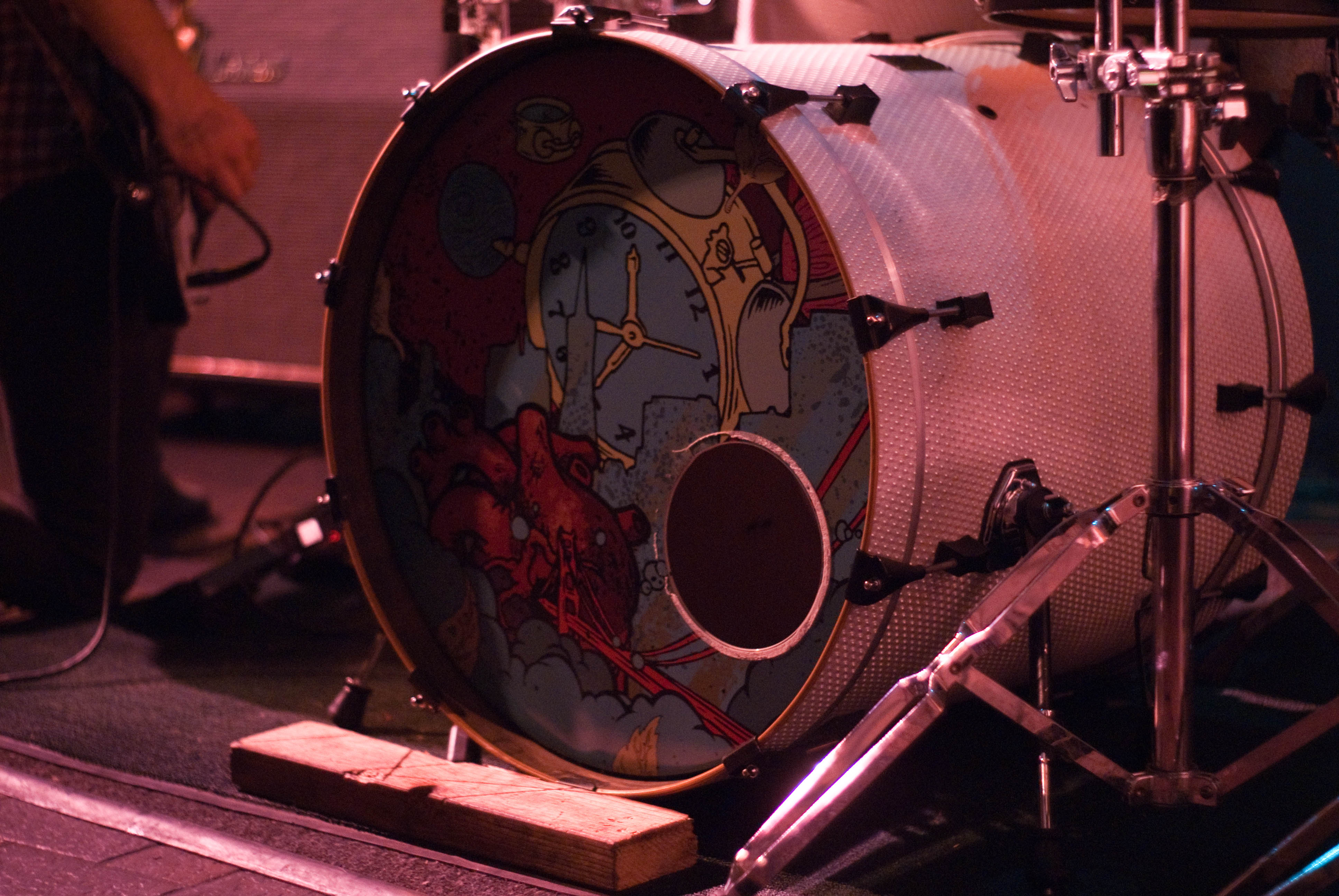 12570 Heartsounds' Until We Surrender artwork on bass drum skin at Sub-Mission