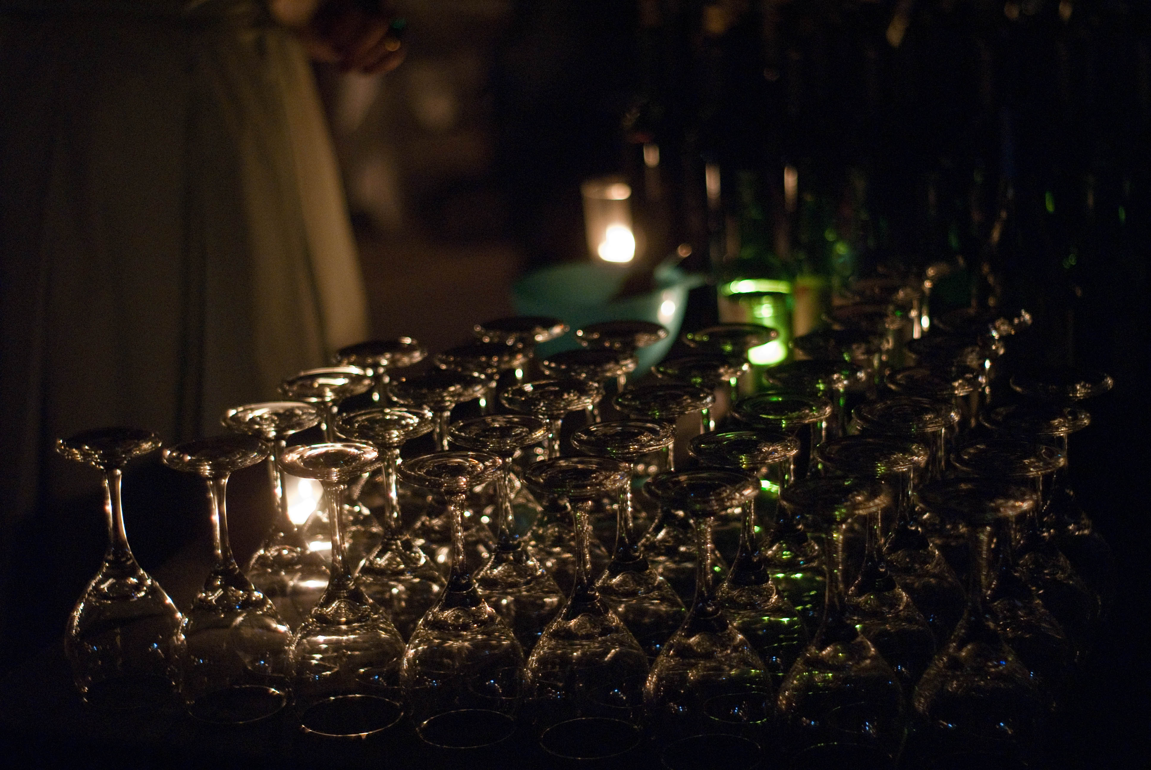 13457 Wine glasses ready for the reception