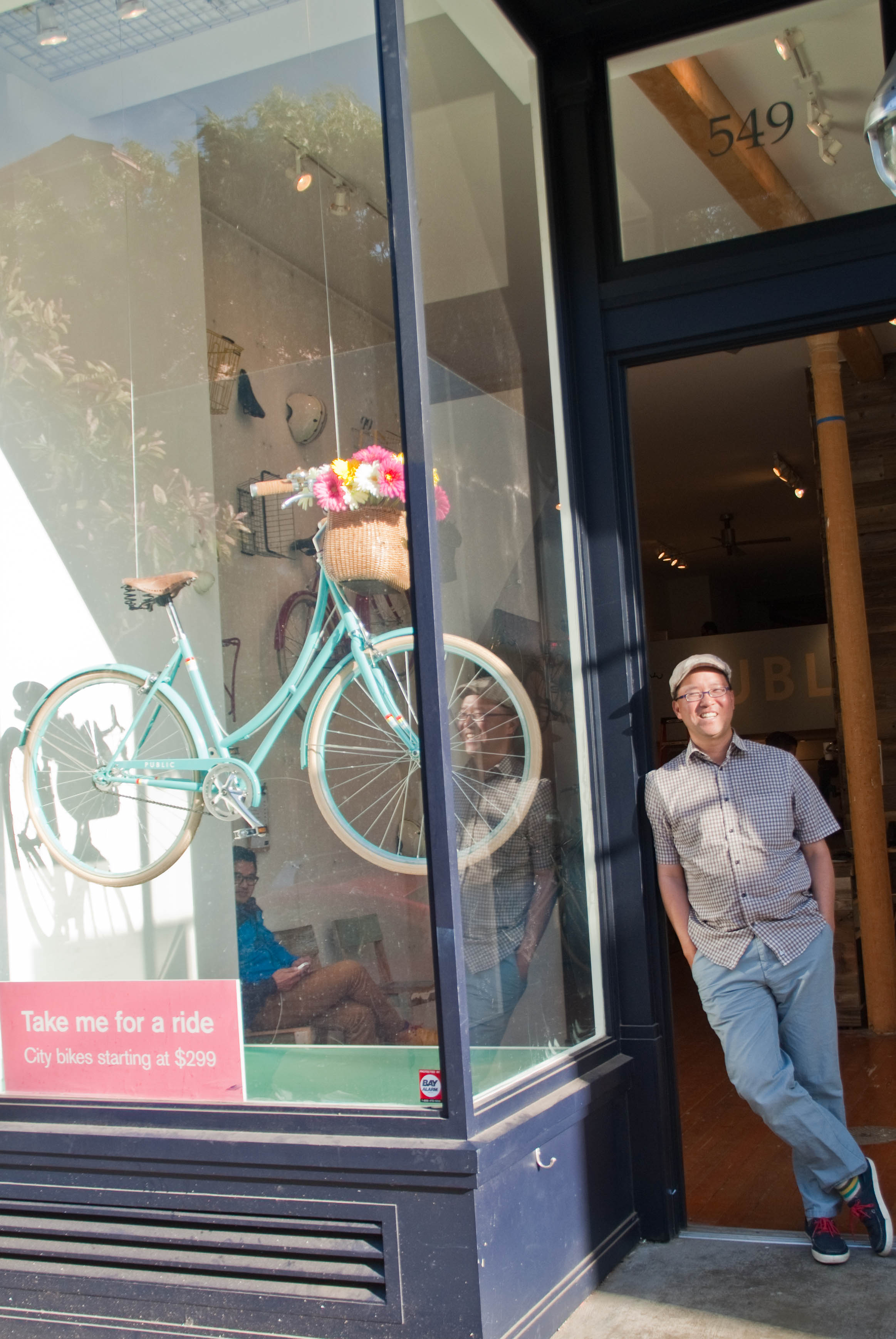 21195 A sun-kissed Dan reflects on Public Bikes Hayes Valley opening day